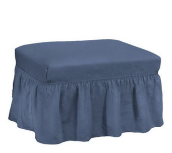 Sure Fit Cotton Duck Ottoman Slipcover - H171020