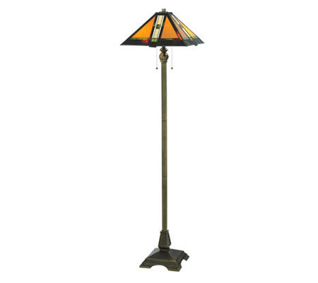 "Tiffany Style 61"" Montana Mission Floor Lamp"