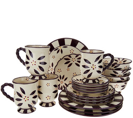 Temp-tations 20-piece Old World Service for 4 Dinnerware Set