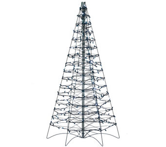 Pre-Lit LED 5' Fold Flat Outdoor Christmas Tree by Lori Greiner - H206420