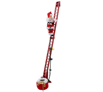 """As Is"" Mr. Christmas Animated and Musical Stepping Santa - H207520"
