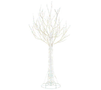 """As Is"" Santa's Best 7' All-Season Prelit White Wire Tree - H208220"