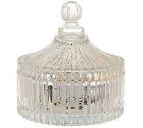 Kringle Express Mercury Glass Trinket Jar with LED Light Strand - H208820