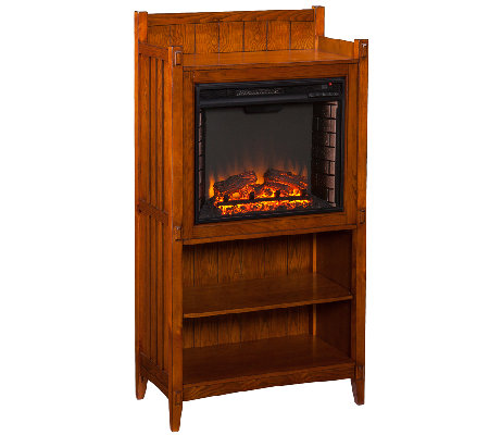 Modano Fireplace Tower - Mission Oak
