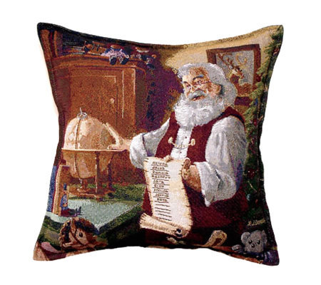 """The List"" Christmas Pillow"