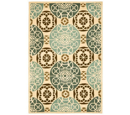 Safavieh Capri Collection Overdye 8' x 10' Wool& Viscose Rug