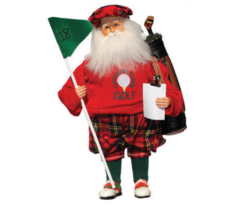"15"" Golfing Santa by Santa's Workshop - H363220"