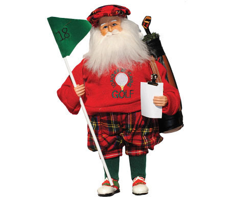 "15"" Golfing Santa by Santa's Workshop"