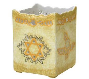 Copa Judaica Pierced-Work Star of David Cache Pot - H145021