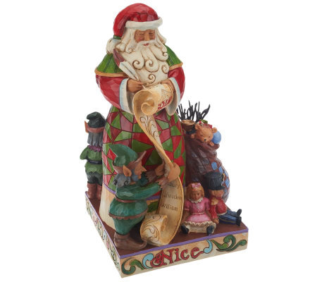 Jim Shore Heartwood Creek Two-Sided Naughty/Nice Santa Figurine