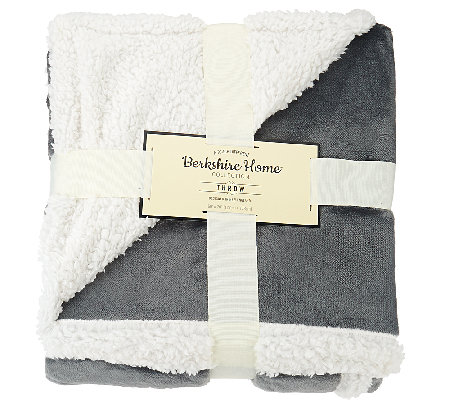 "berkshire blanket loftmink/sherpa reversible 50"" x 70"" throw"