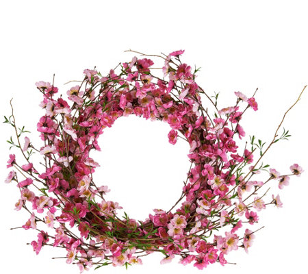 Spring Floral Wreath in Choice of Flower by Valerie