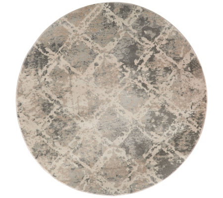 "Inspire Me! Home Decor Shadow 5'3"" Round Rug"