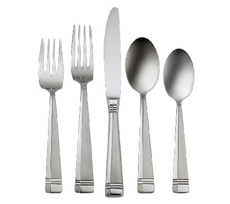 Oneida Amsterdam Sandblast Finish 45-Piece Flatware Set
