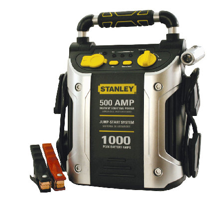 Stanley 500 AMP/1000 PEAK AMP Battery Jump Starter w/ Outlet