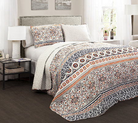 Nesco 3-Piece Full/Queen Quilt Set by Lush Decor