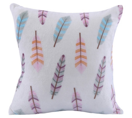 Berkshire Blanket VelvetLoft Cream Feathers Pillow
