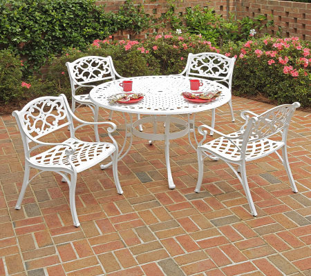 Home Styles Biscayne 5-Piece Outdoor Set w/ ArmChairs