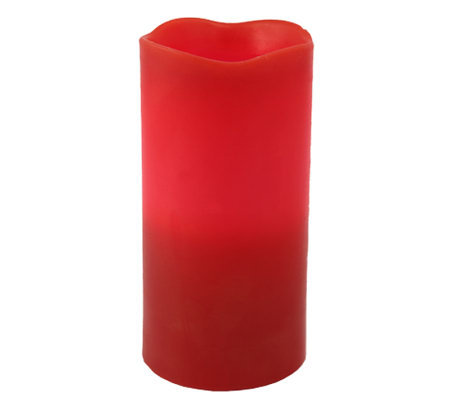 "Pacific Accents 3""x6"" Red Melted Top Candle"