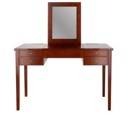 Jewelry & Cosmetic Organizer Vanity Table by Lori Greiner