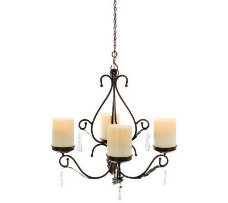 """As Is"" Indoor- Outdoor 3-in-1 Sconces with Flameless Candles"
