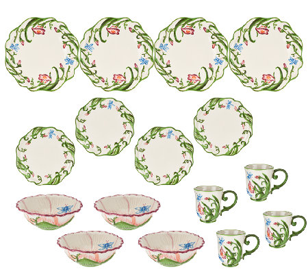 Temp Tations 16 Piece Dragonfly Dinnerware Service For 4