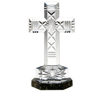 Waterford Crystal and Connemara Marble Ventry Cross - H208322