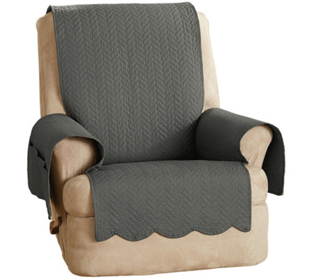Sure Fit 100% Cotton Recliner Furniture Cover Chevron Stitch  sc 1 st  QVC.com & Sure Fit 100% Cotton Recliner Furniture Cover Chevron Stitch ... islam-shia.org