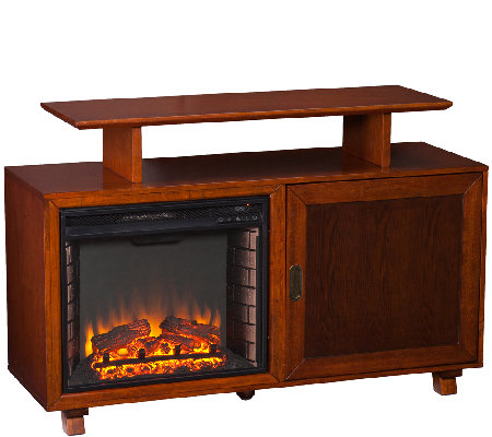 Humboldt Media Fireplace - Walnut/Espresso
