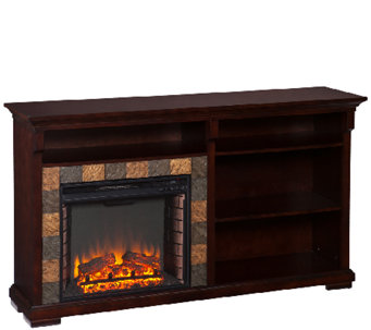 Thatcher Bookshelf Electric Fireplace - H285522