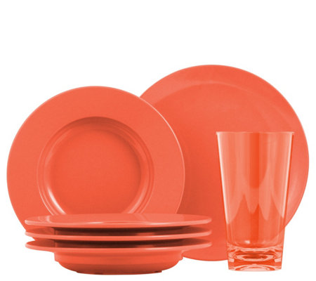 ThermoServ 12-Piece Bistro Dinnerware and Tumbler Set