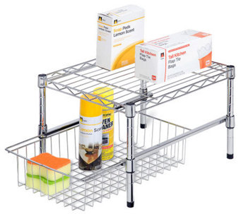 Honey-Can-Do Adjustable Shelf with Under-Cabinet Organizer - H367422