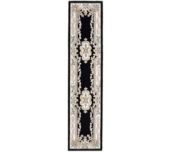 "Rugs America New Aubusson 2'3"" x 10' Wool Runner - H140023"