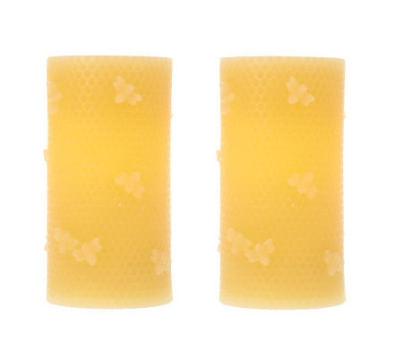 CandleImpressio S/2 Honeycomb Bee Flameless Candles with Timer