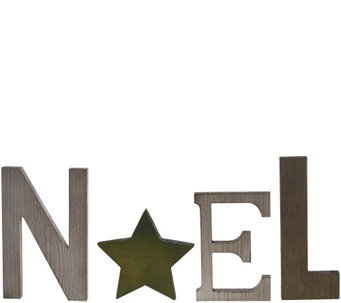 ED On Air Painted Rustic Wood Star Word Sign by Ellen DeGeneres - H207123