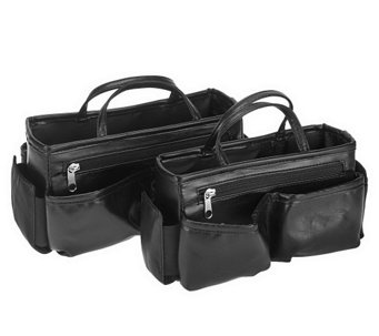 Ready Set Go Set of 2 Bag Organizers by Lori Greiner - H210023