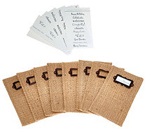 Set of 8 Cutlery Couture Jute Silverware Pouches - H210523