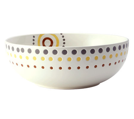 "Rachael Ray Circles and Dots Stoneware 10"" Round Serving Bowl"