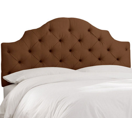 California King Tufted Notched Headboard by Valerie