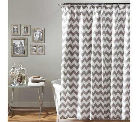 Chevron Shower Curtain by Lush Decor