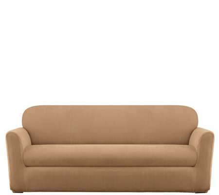Sure Fit Modern Chevron Sofa Slipcover