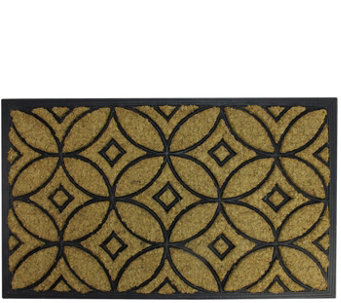 Northlight Black Rubber And Coir Door Mat   H293623
