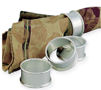 Nickel-Plated Rolled-Edge Napkin Rings - Set ofFour - H348823
