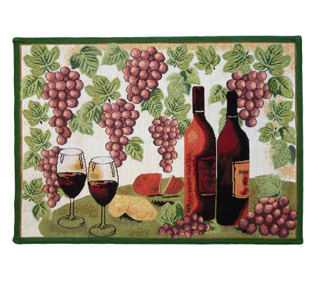 Wine Table 19x27 Tapestry Rug