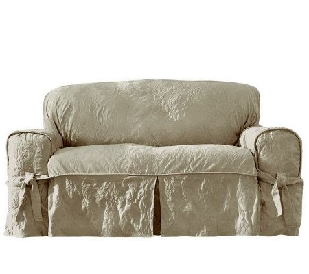 Sure Fit Matelasse Damask Sofa Slipcover Page 1 QVCcom
