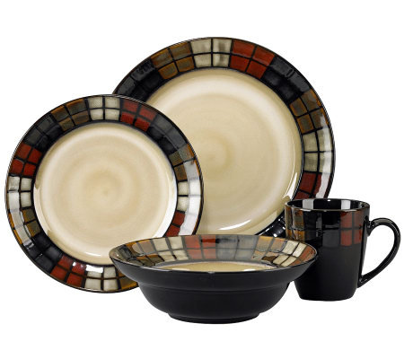 Pfaltzgraff Calico 16-Piece Dinnerware Set