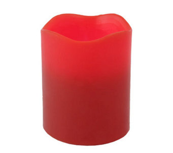 "Pacific Accents 4""x5"" Red Melted Top Candle - H366423"