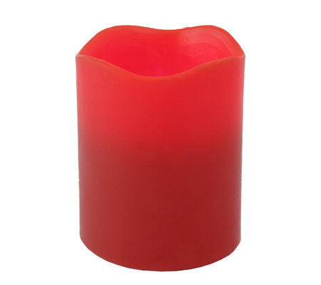 "Pacific Accents 4""x5"" Red Melted Top Candle"