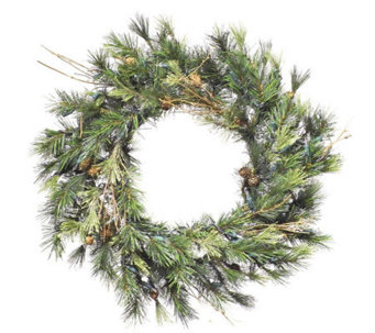 "30"" Mixed Country Pine Wreath by Vickerman - H142124"