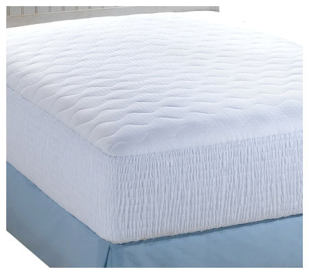 Croscill 500TC Pima Cotton Dobby Check Cali King Mattress Pad